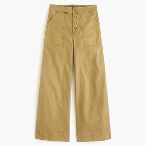 J. Crew Cropped Wide Leg Chino Pants